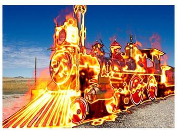 Obraz ohnivé lokomotivy (F001696F7050)
