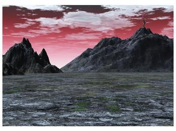 Obraz skalnaté přírody (F001712F7050)