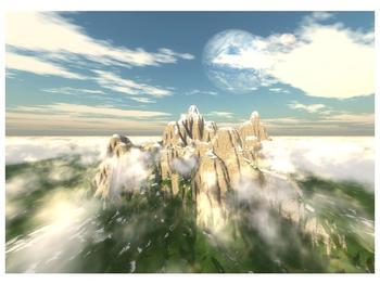 Obraz zasněžených vrcholů skal (F001715F7050)