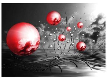 Moderní obraz - červené koule (F002086F7050)