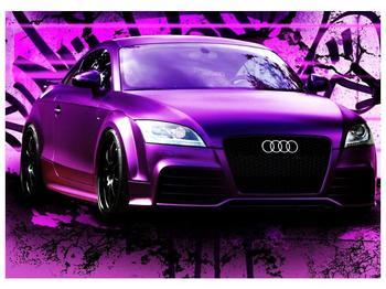 Obraz fialové Audi (F002349F7050)