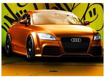 Obraz oranžové Audi (F002351F7050)
