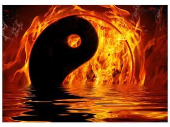 Obraz hořícího Jin Jangu  (F002885F7050)