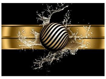 Obraz pruhované koule a vody (F004116F7050)