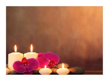 Tablou relaxant cu lumănâri și orhidee (K011120K7050)