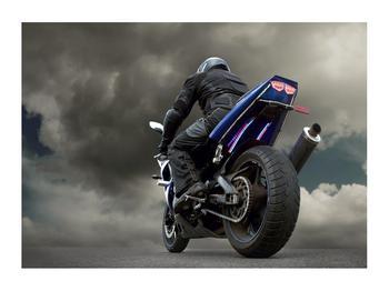 Tablou cu motociclist cu motocicletă (K011302K7050)