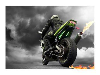 Tablou cu motociclist pe motocicletă (K011383K7050)