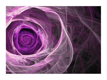 Moderný obraz fialovej ruže (K011482K7050)