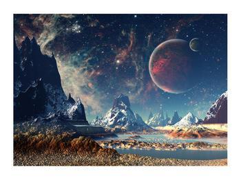 Tablou cu peisaj montan cu planete (K012168K7050)
