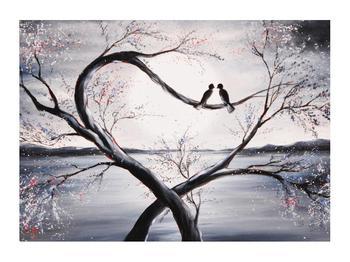 Tablou cu păsări îndrăgostite (K012516K7050)