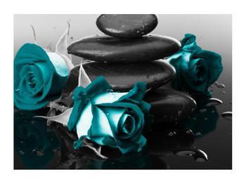 Tablou cu trandafiri albastre (K012553K7050)