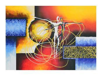 Abstraktní obraz tanečníků (K014151K7050)
