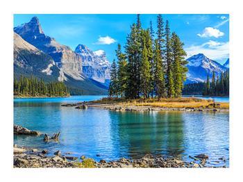 Obraz horské krajiny s řekou (K014679K7050)
