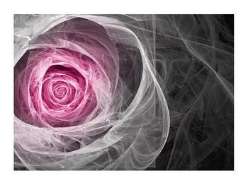 Abstraktní obraz růže (K014952K7050)