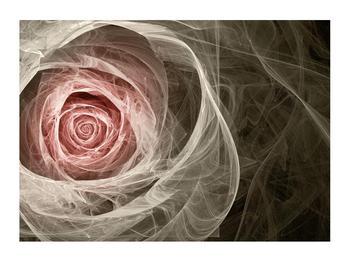 Abstraktní obraz růže (K014988K7050)