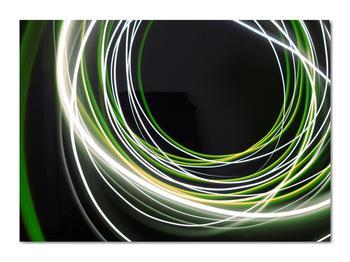 Obraz zelených čiar (V020054V7050)