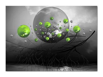 Obraz zelených abstraktných gulí (V020103V7050)