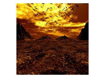 Obraz vyprahlého údolí (F000287F7070)
