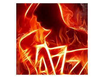 Obraz ohnivé postavy (F001691F7070)