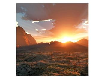 Obraz západu slunce nad horama (F001700F7070)