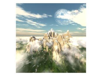 Obraz zasněžených vrcholů skal (F001715F7070)