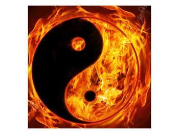 Obraz hořícího jin jang (F002309F7070)