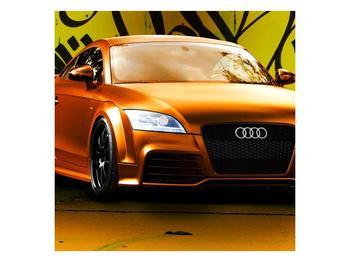Obraz oranžové Audi (F002351F7070)