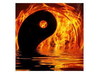 Obraz hořícího Jin Jangu  (F002885F7070)