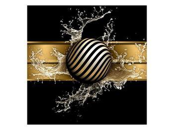 Obraz pruhované koule a vody (F004116F7070)