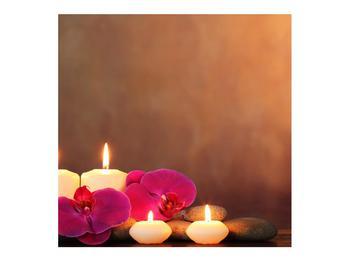 Tablou relaxant cu lumănâri și orhidee (K011120K7070)