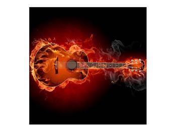 Lángoló gitár képe (K011168K7070)