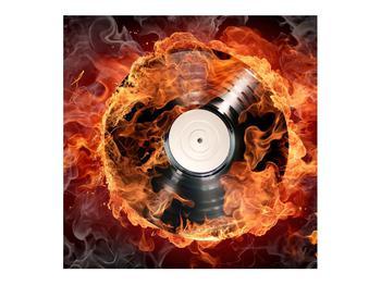 Tablou cu placă de gramofon în foc (K011171K7070)
