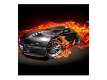 Tablou cu mașina arzând (K011174K7070)