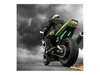 Tablou cu motociclist pe motocicletă (K011383K7070)