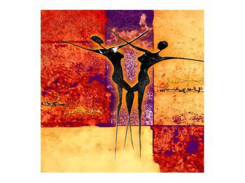 Tablou abstract cu doi dansatori (K011975K7070)