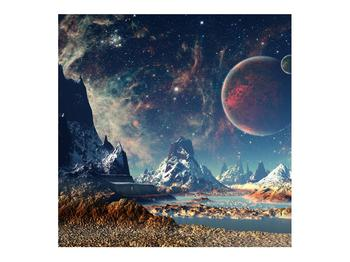 Tablou cu peisaj montan cu planete (K012168K7070)