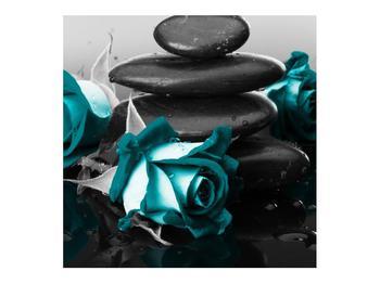 Tablou cu trandafiri albastre (K012553K7070)