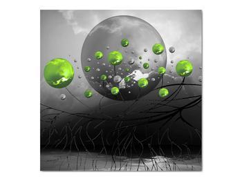 Obraz zelených abstraktných gulí (V020103V7070)
