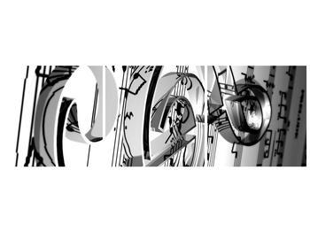 Moderní obraz houslového klíče (F000206F9030)
