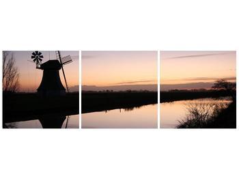 Obraz rybníku u mlýna (F001556F9030)