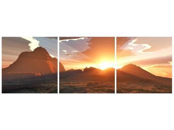 Obraz západu slunce nad horama (F001700F9030)