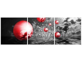 Moderní obraz - červené koule (F002086F9030)