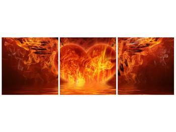 Obraz hořícího srdce s křídly  (F002884F9030)