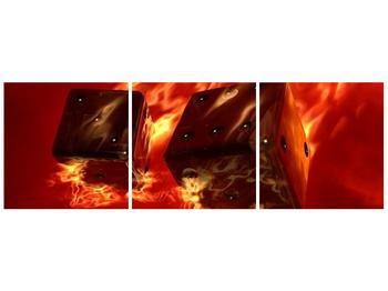 Moderní obraz hořících herních kostek (F004319F9030)