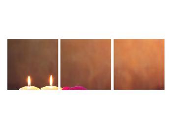 Tablou relaxant cu lumănâri și orhidee (K011120K9030)