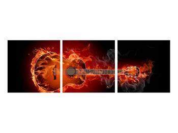 Obraz kytary v ohni (K011168K9030)