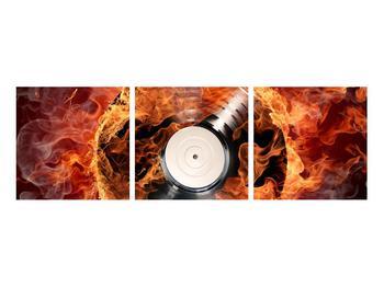Tablou cu placă de gramofon în foc (K011171K9030)