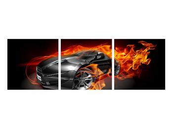 Tablou cu mașina arzând (K011174K9030)