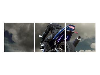 Tablou cu motociclist cu motocicletă (K011302K9030)