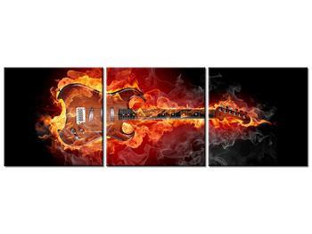 Obraz kytary v ohni (K011403K9030)
